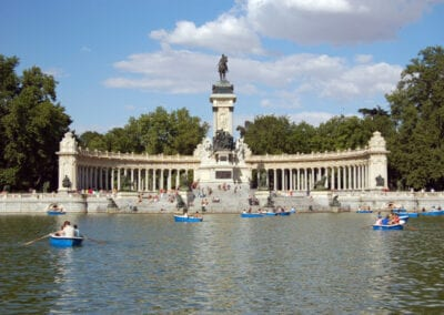 Boating on Lake Madrid