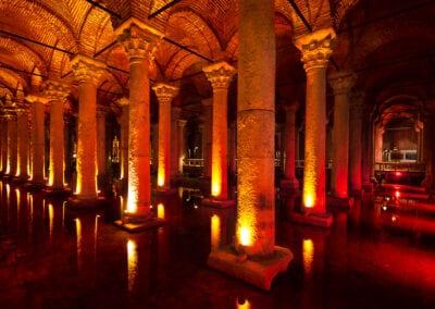The Basilica Cistern (Yerebatan Sarnici) in Istanbul